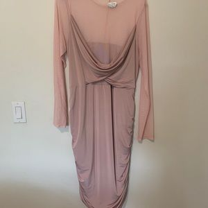 Layered Dress with Sheer Sleeves